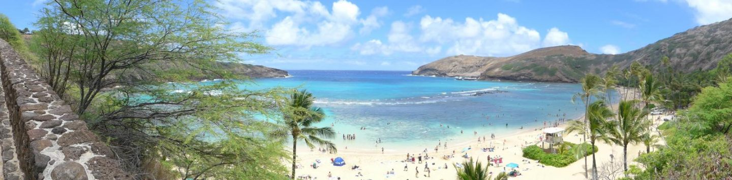Travel to Hawaii - Hanauma Bay Panoramic