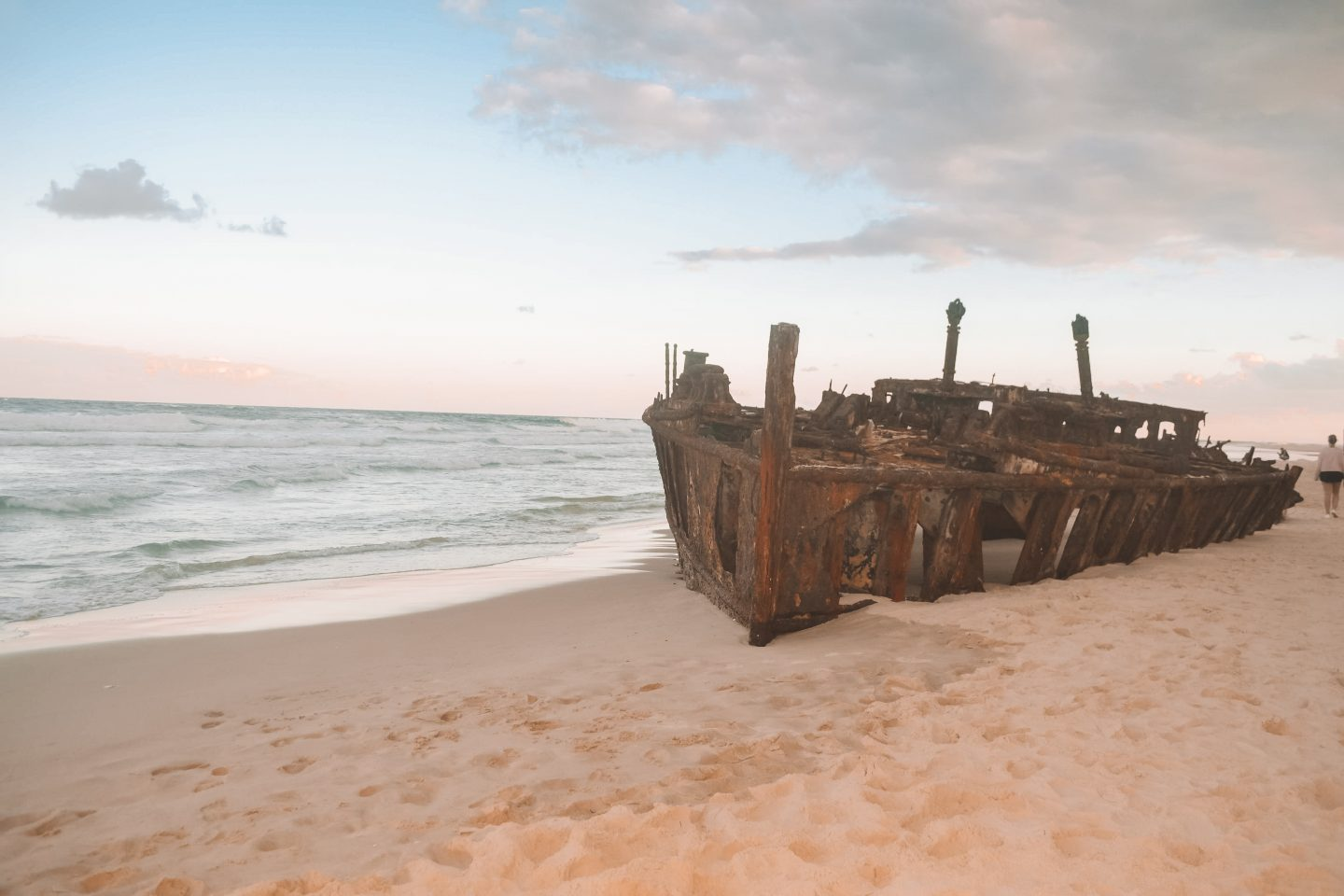 The SS Maheno during my trip to Fraser Island