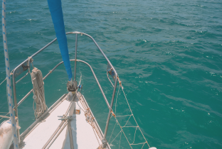 On anchor at Tangalooma